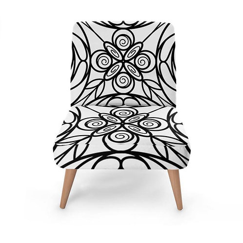 Stained Glass Print Occasional Chair