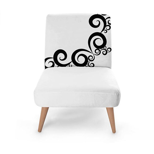 Swirl Print Occasional Chair