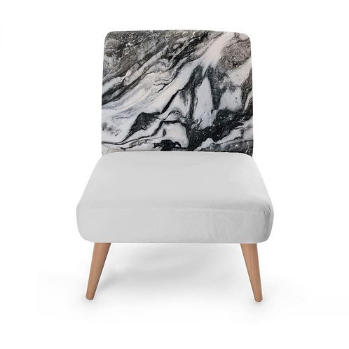Marble Block Print Occasional Chair