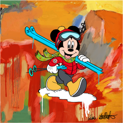 skiing Mickey