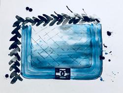 Chanel boy bag aquarelle on paper