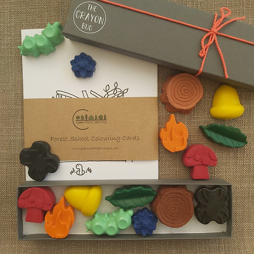Crayon Gift Set & Colouring Cards