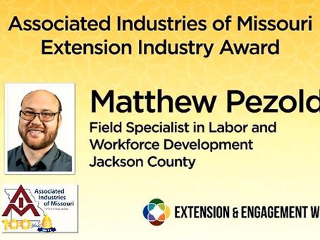 Matt Pezold wins 2020 AIM Extension Industry Award