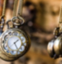 Vintage pocket watchs hanged with chains