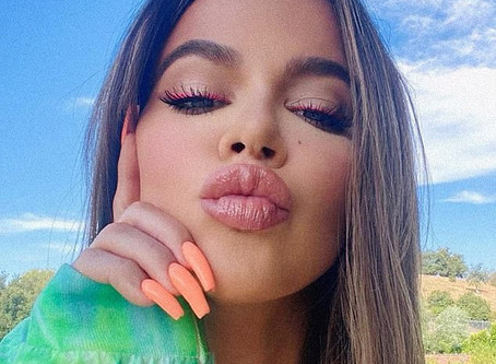 As the family drama continues, Khloe Kardashian proudly shows off her new face to her fans