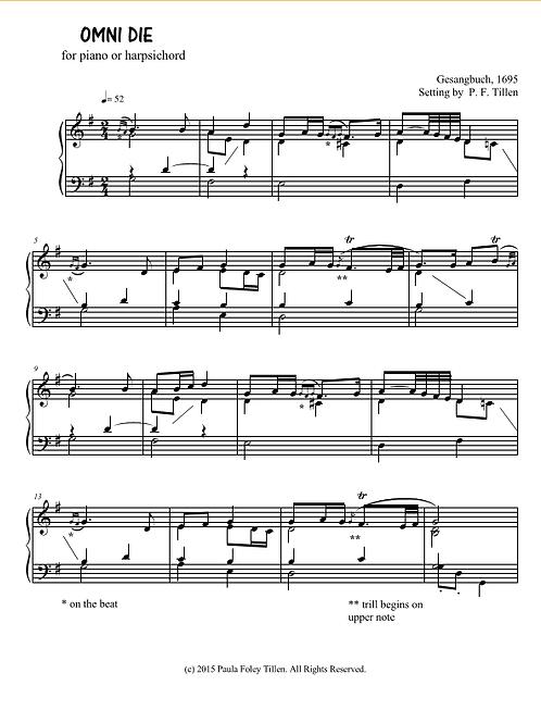 Piano or Harpsichord Prelude on OMNE DEI