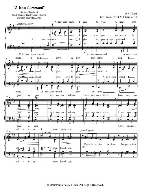 A New Command- for SATB a cappella