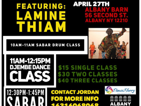 Senegalese Drum & Dance Workshop ft. Lamine Thiam (Albany Barn)