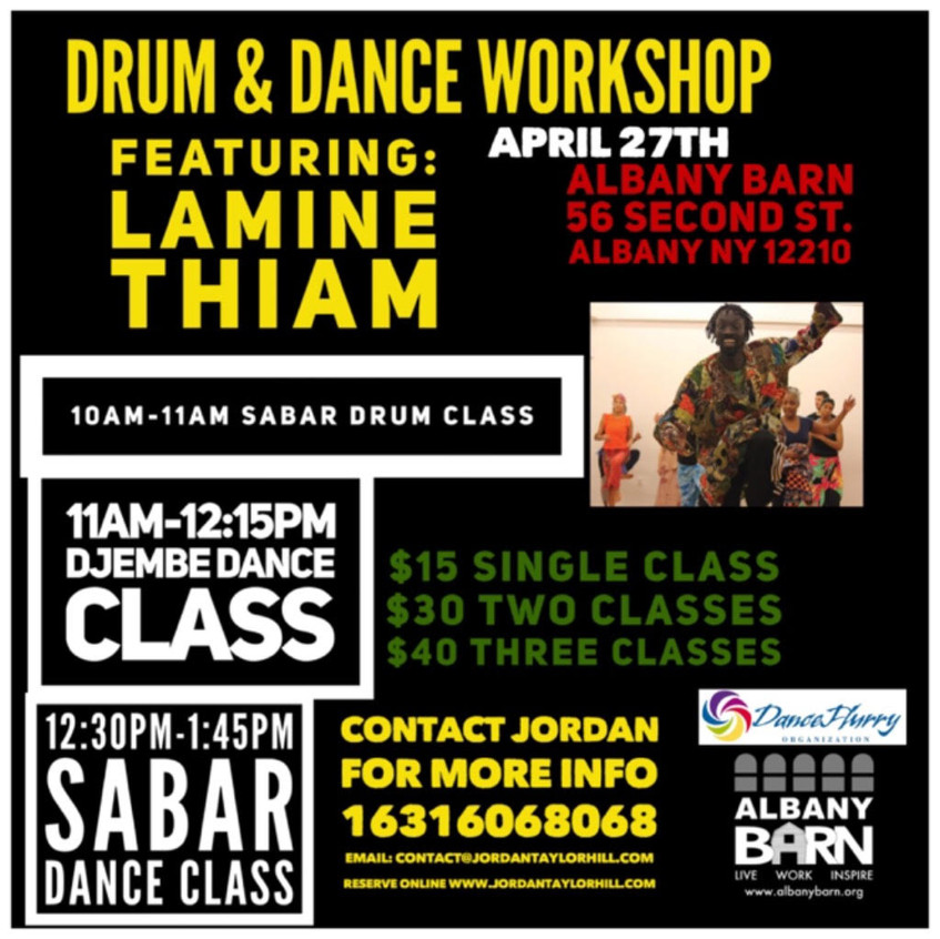 Drum & Dance Workshop ft Lamine