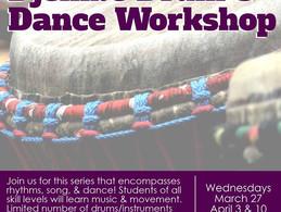 Drum & Dance Workshop Today