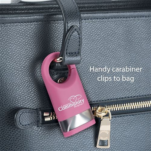 Pink LED Carabiner Flashlight Lamp