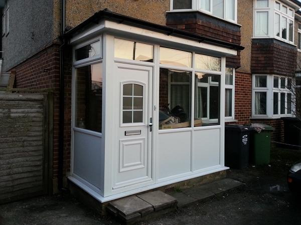 new upvc porch installation
