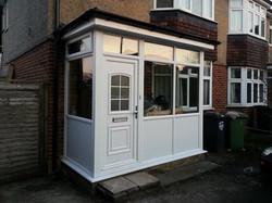 new upvc porch installation