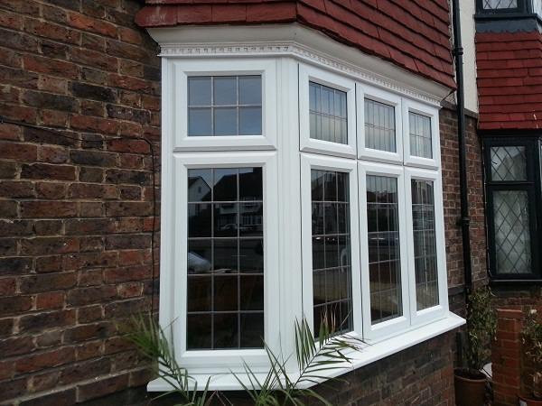 3 part upvc bay window