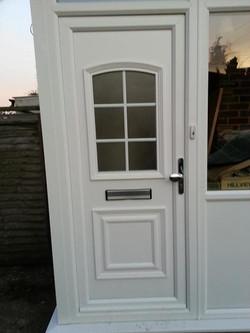 panel upvc door installation