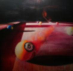 pool golf billiards Andrew Gray painting
