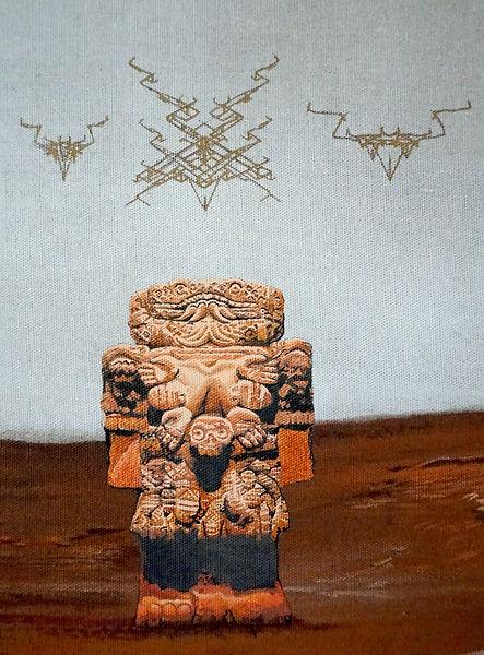 Coatlicue, Aztec statue, Biomorph, Richard Dawkins,