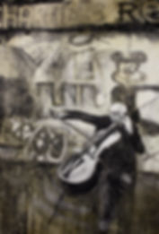 Rostropovich berlin wall Andrew Gray painting
