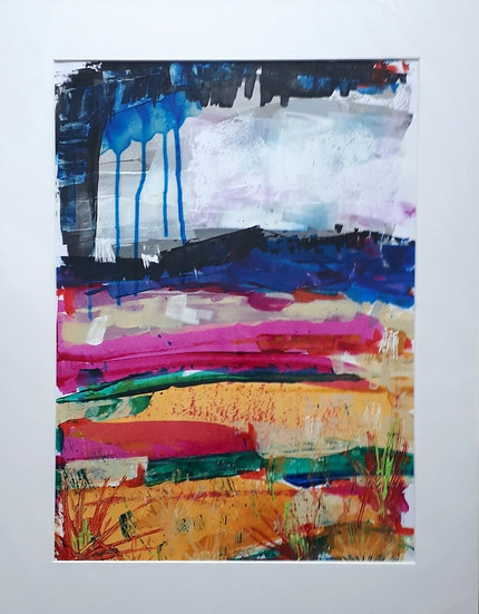 Original Painting - The Rain Came