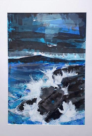 Original Painting -Loch Long Waves