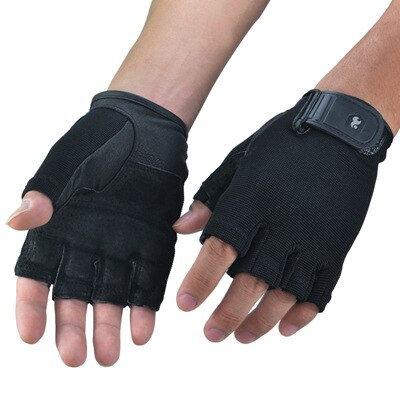 Genuine Leather Gym Gloves