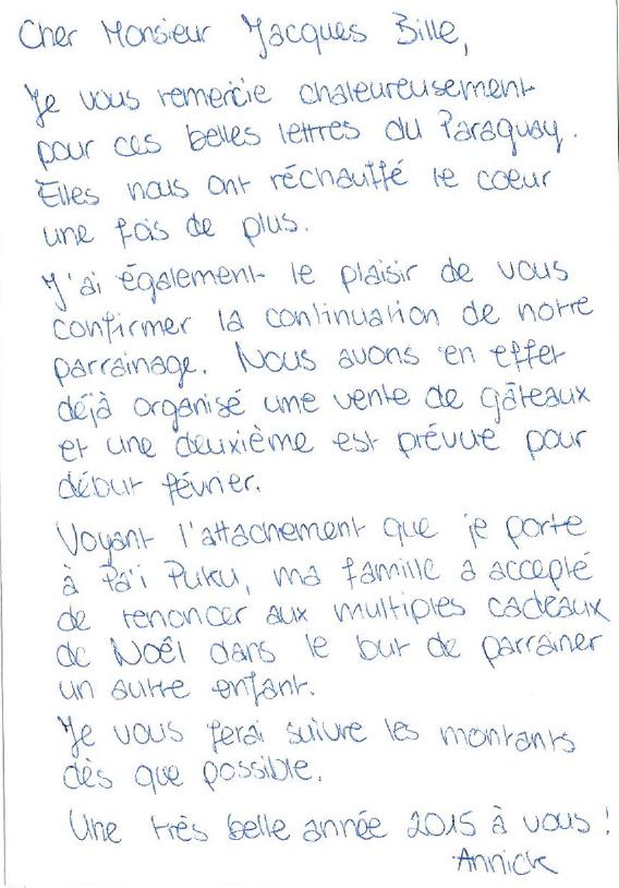Lettre à Jacques Bille