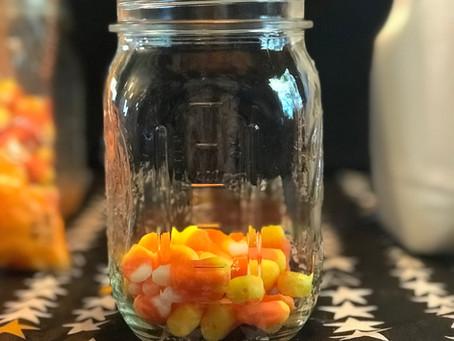 Candy Corn Creamer Halloween Milk