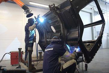 Востановление каркаса кабины КамАЗ после ДТП, капитальный ремонт кабины КамАЗ.