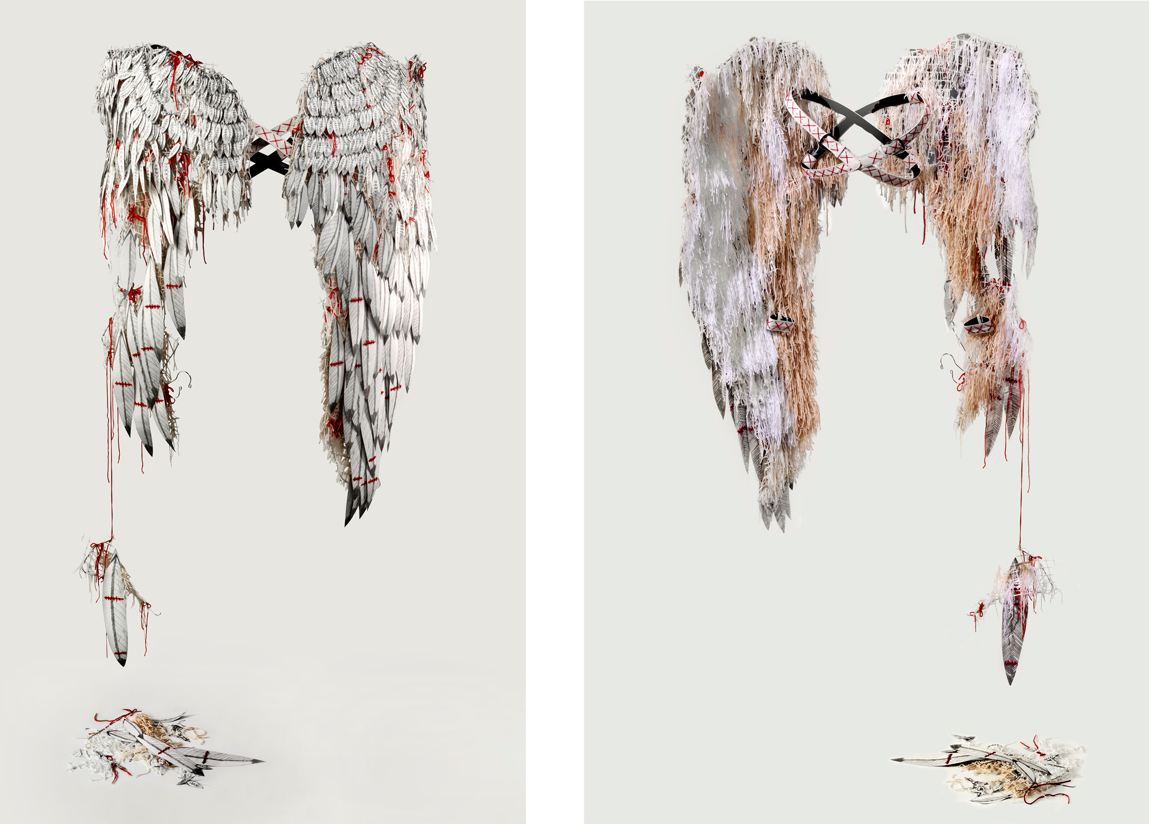 Wings (front and back), 2012