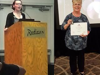 Star Award presented to Sandy Beckel at EdSymposium 2018