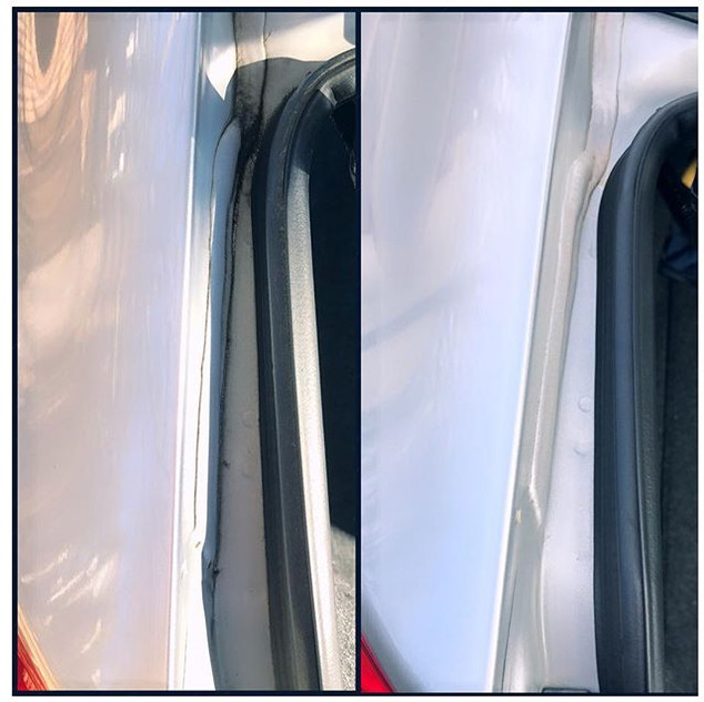 Every detail is important! 👆👀 ( Honda Civic 2013 )_#trunkjambs #doorjambs #avantgardeautodetailing #carwash #detailing #mobile #beforeandaft