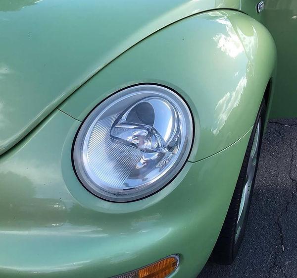 WV Beetle headlight restoration AFTER.jp