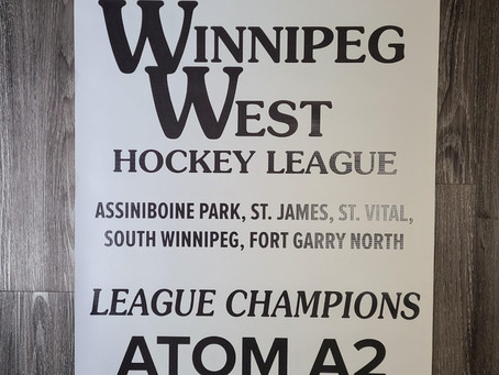 Congrats to the 2019-20 Winnipeg West League Champions
