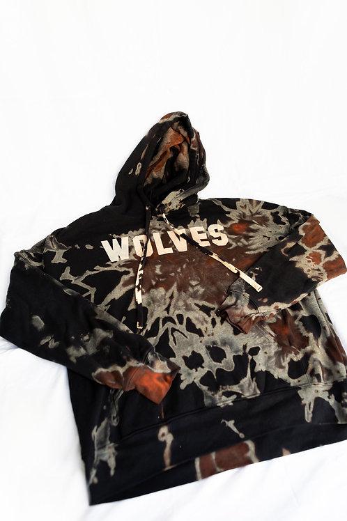 Wolves Tie Dye Hoodie