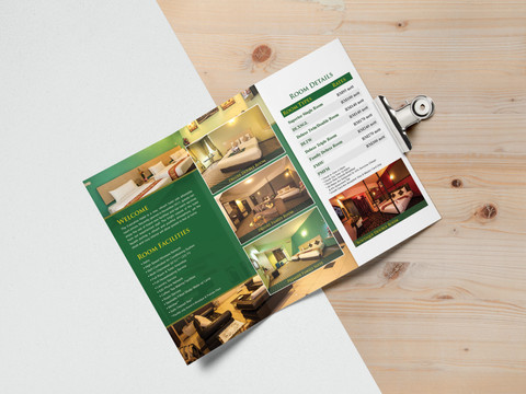 Thy Executive Hotel Tri Fold Brochure