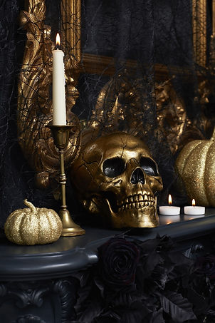 Halloween-at-George-Home-Black-Lace-and-