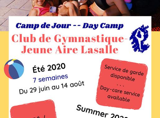 CAMP DE JOUR ÉTÉ 2020! / SUMMER CAMP SUMMER 2020!