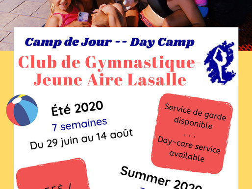 CAMP DE JOUR ÉTÉ 2020! / SUMMER CAMP SUMMER 2020!
