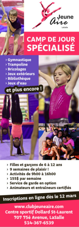 Montréal pour Enfants, Summer Camp Ad 20