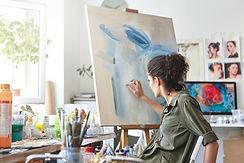 art-creativity-hobby-job-creative-occupation-concept-rear-view-busy-female-artist-sitting-