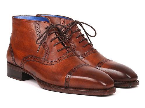 aul Parkman Men's Antique Brown Cap Toe Ankle Boots (ID#646BRW15)