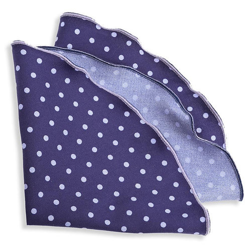 Pocket Round Navy Sky Dot