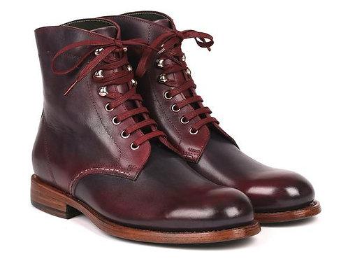 Paul Parkman Men's Leather Boots Bordeaux & Navy (824BRD65)