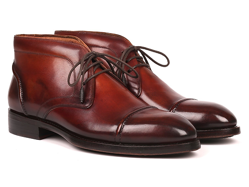 Paul Parkman Men's Cap Toe Chukka Boots Brown (ID#144BRW68) Regular price$750.00