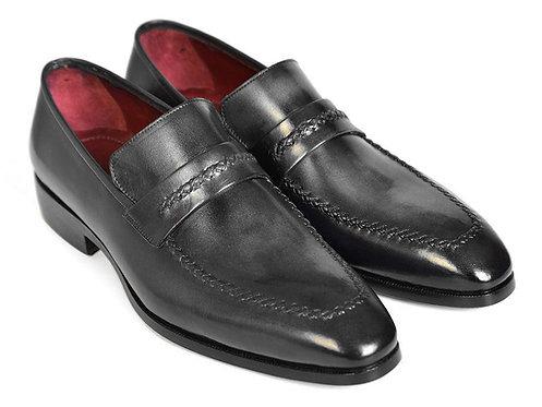 Paul Parkman Gray & Black Men's Loafers for Men (ID#068-GRAY)