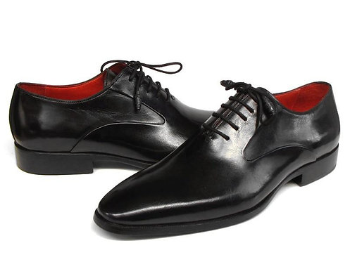Paul Parkman Men's Black Oxfords Leather Upper and Leather Sole (ID#019-BLK)