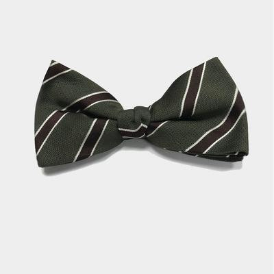 Forest Green Brown Bow Tie