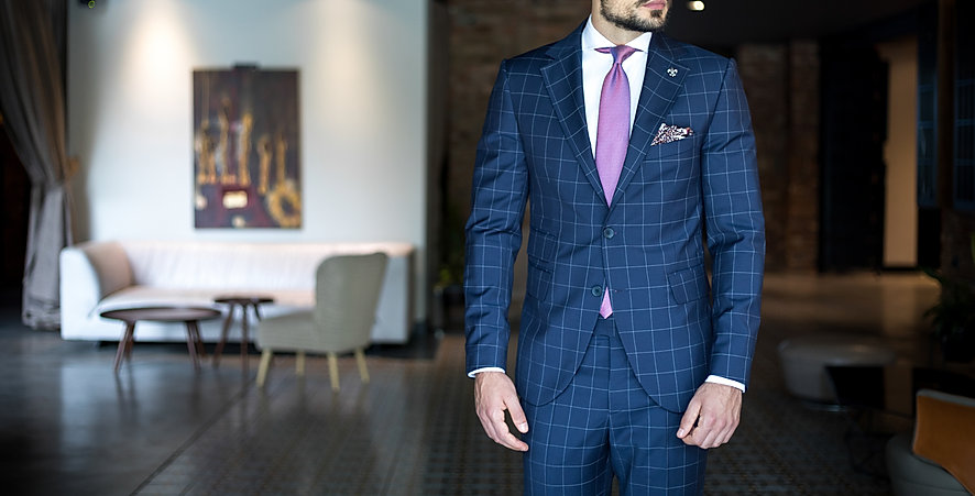 Man in expensive custom tailored busines