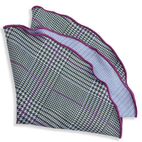Pocket Square Round Purple Green
