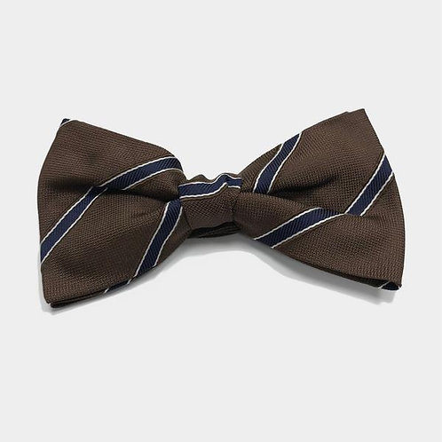 Forest  Brown and Navy Bow tie